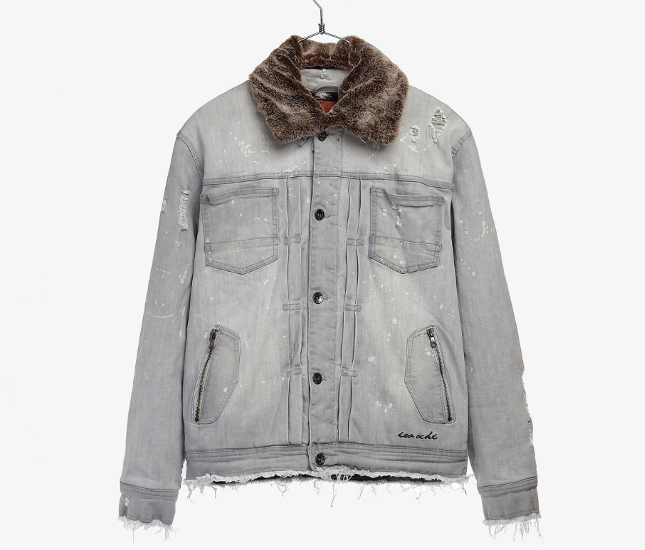 IRO-OCHI - WASHI DENIM JACKET - GREY/STONE