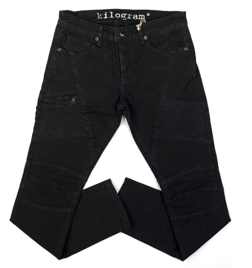 KILOGRAM -  JET BLACK ZIP POCKET (KG2807) - JEANS ONLY - cosign1975