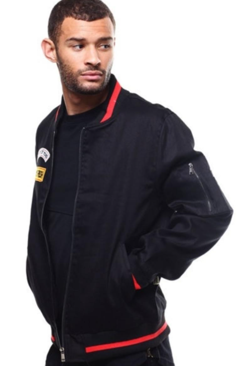 KLEEP - KLEEP Men's Premium Padded Twill bomber jacket. (KJ-9100-BLK)