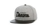 STREET DREAMS - Stadium Snapback (SD0454GRY) - GREY - LEATHER BRIM