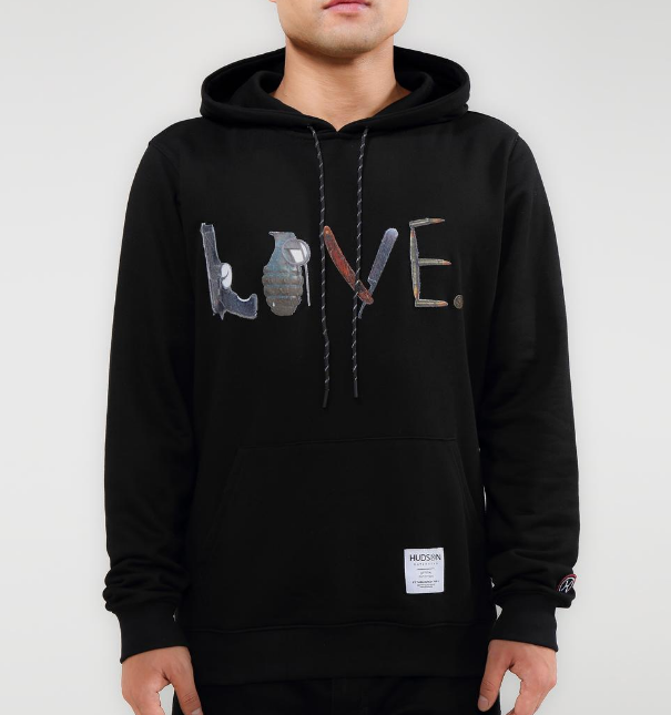 HUDSON - Weapons Or Love Hoody (H5052837)- - cosign1975