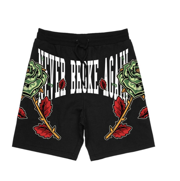 NBA - MONEY ROSE SHORTS (MONEYROSESHORTSBLK)