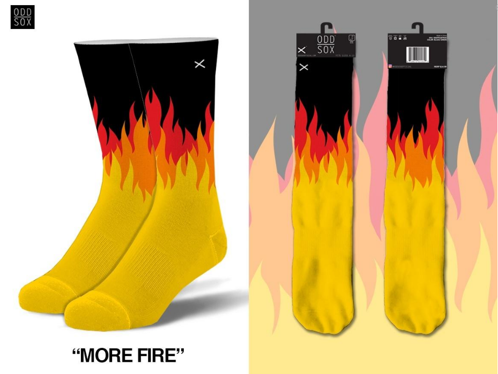ODDSOX - More Fire (Knit) (OSMOREFIRE)