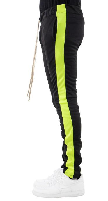 EPTM - BLACK/NEON GREEN - TRACK PANTS (EP8450)