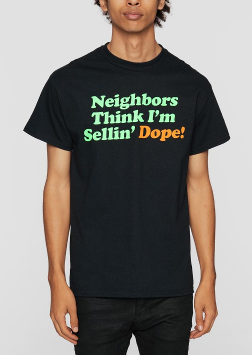 DOPE - Neighbors Tee (D18FW-G007) - BLACK