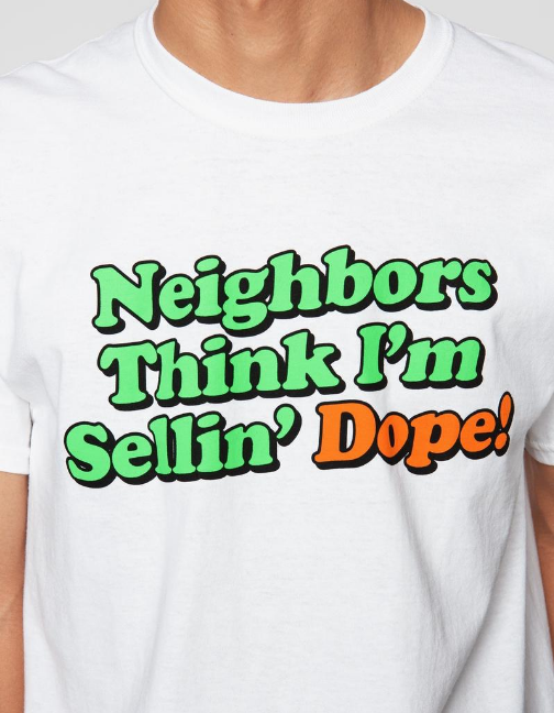 DOPE - Neighbors Tee (D18FW-G007) - WHITE