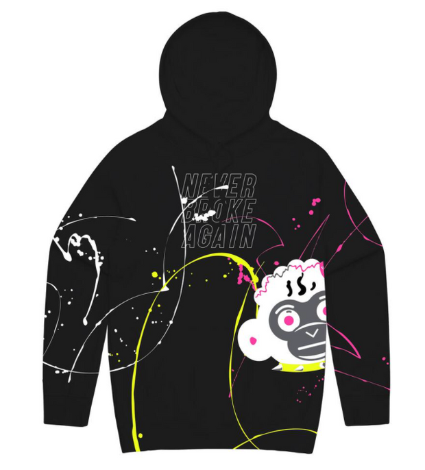 NBA - PAINT SIDE MONKEY HOODY (PAINTSIDEMONKEYHOODYBLK)