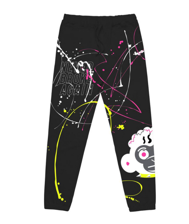 NBA - PAINT SIDE MONKEY JOGGERS (PAINTSIDEMONKEYJOGGERSBLK)