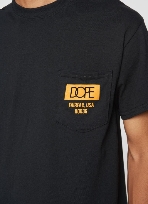 DOPE - Quality Dope Pocket Tee (D19SS-T078) - BLACK