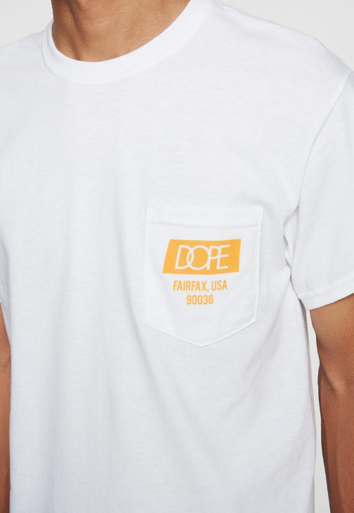 DOPE - Quality Dope Pocket Tee (D19SS-T078) - WHITE