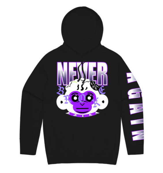 NEVER BROKE AGAIN - RETRO BABY HD BLK.PURPLE (MNKYHDPURPHD)