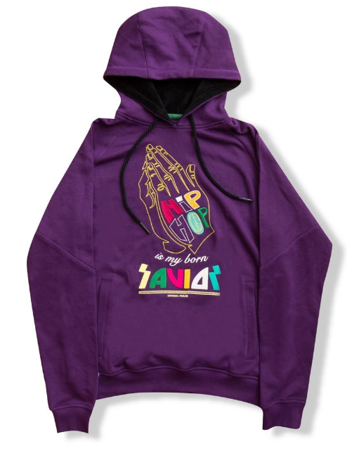 "ORIGINAL FABLES - ""SAVIOR"" PULLOVER HOODIE (H908) - PURPLE - cosign1975"
