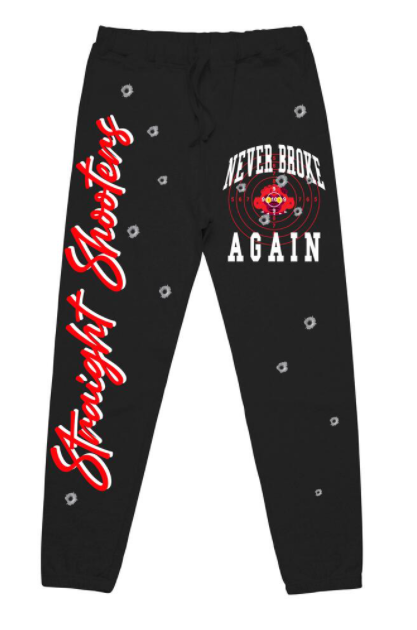 NEVER BROKE AGAIN - STRAIGHT SHOOTERS JOGGERS (STRAIGHTSHOOTERSJOGGERSBLK)