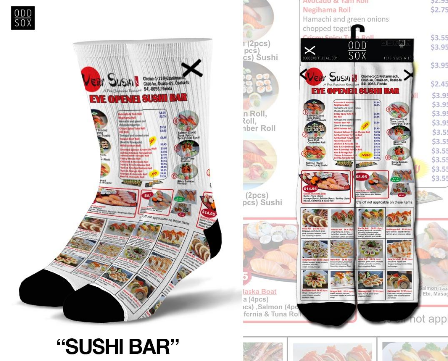 ODDSOX - Sushi Bar (Sublimation) (OSSUSHIBAR)