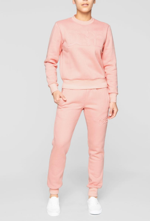 DOPE - Embossed Cropped Crew (D19FW-W001) - PINK