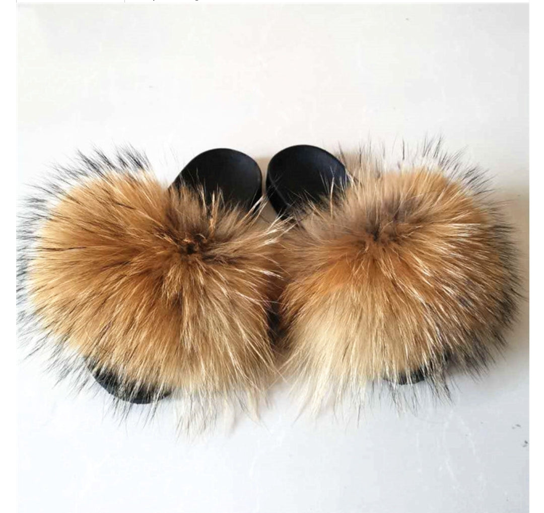 FUR SLIDES - BROWN