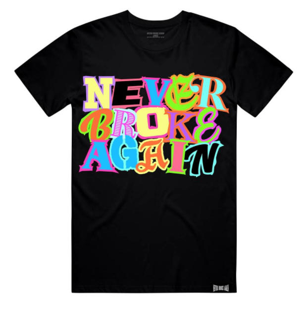 NEVER BROKE AGAIN - TEAM TSHIRT (TEAMTEEBLK) - BLK