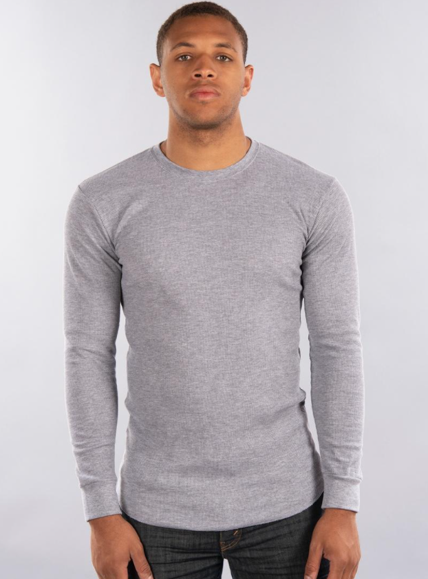 CITY LAB - FITTED Thermal Shirt (TH0209) - GREY - PACKAGED