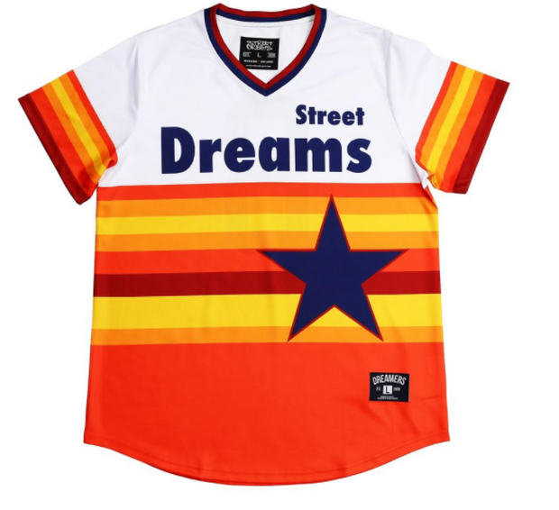 STREET DREAMS - Triple Play Multi Stripe Jersey (TP0753WHT)