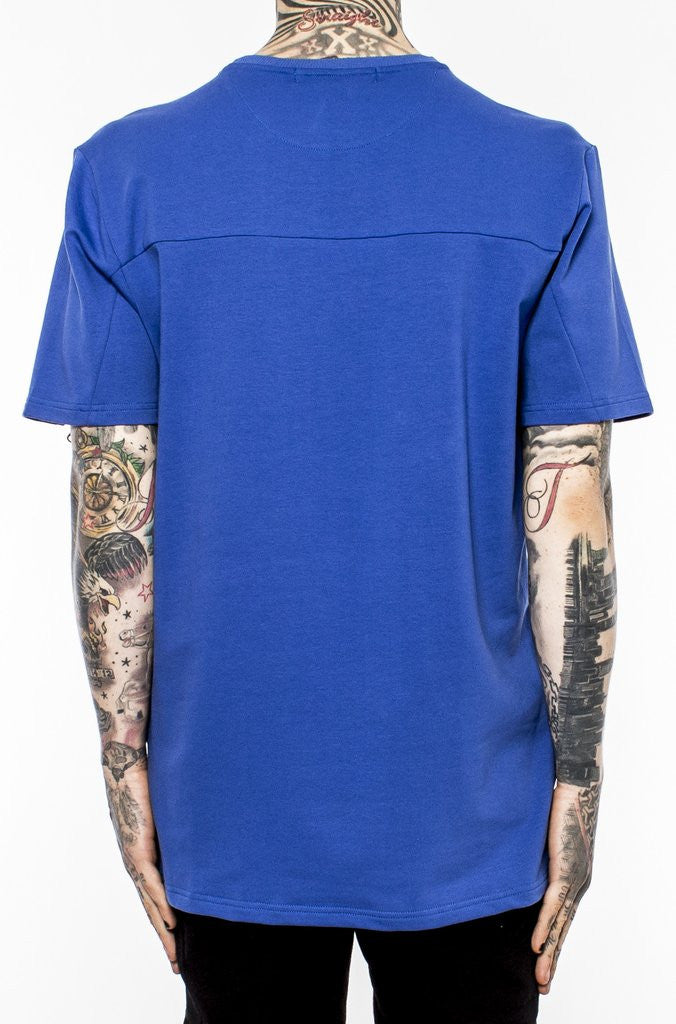 Chest Zip Double Logo Tee (Y1160561) BLUE - cosign1975