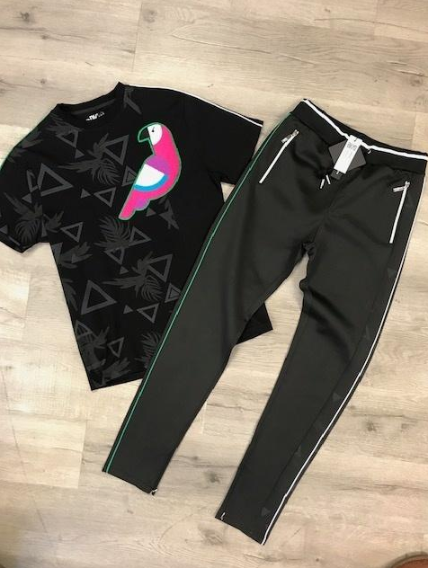 """PARADISE"" TRACK PANTS (BKP904) Black Pants Only - cosign1975"