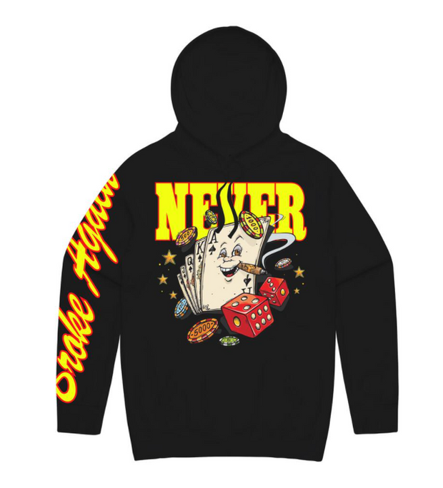 NEVER BROKE AGAIN - BLACK JACK HOODY (BLACKJACKHOODYBLK)
