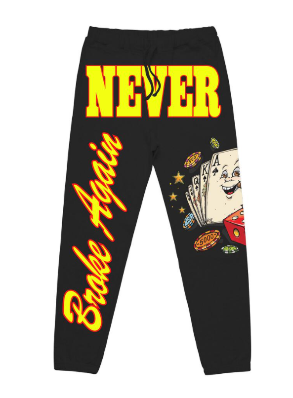 NEVER BROKE AGAIN - BLACKJACK JOGGERS (BLACKJACKJOGGERSBLK)