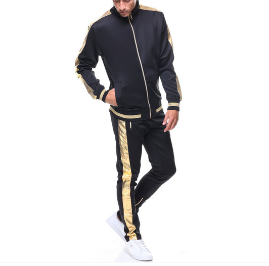 Hudson Gold and Black Lux Track Jacket (H6051853) - cosign1975