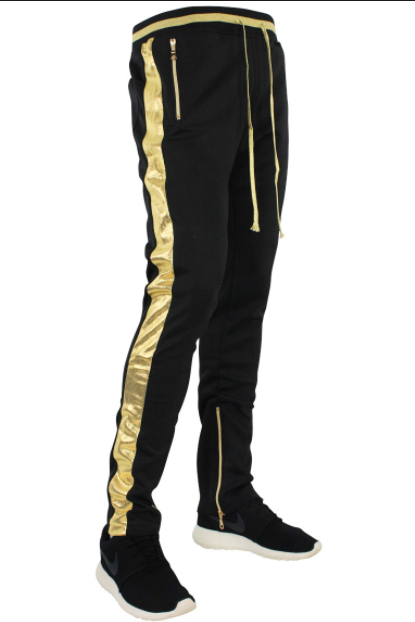 Hudson Black and Gold Lux Track Pants (H4051852) - cosign1975