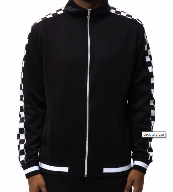Checkered Track Jacket (H6051838) - cosign1975