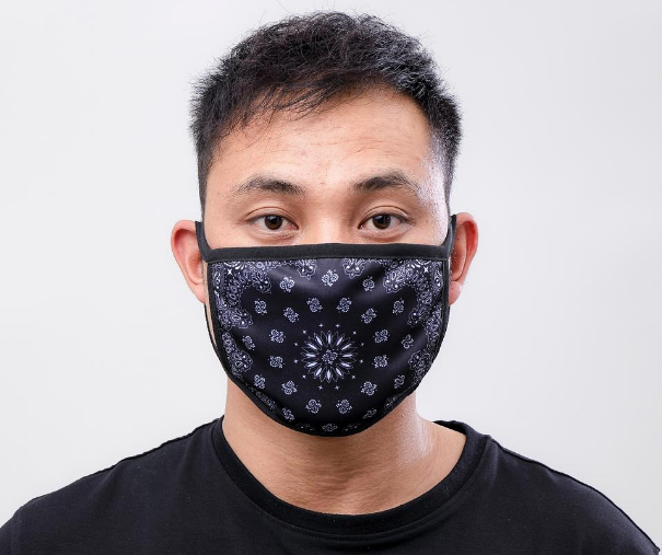 HUDSON - Solid Paisley Face  (E7133261) -BLACK