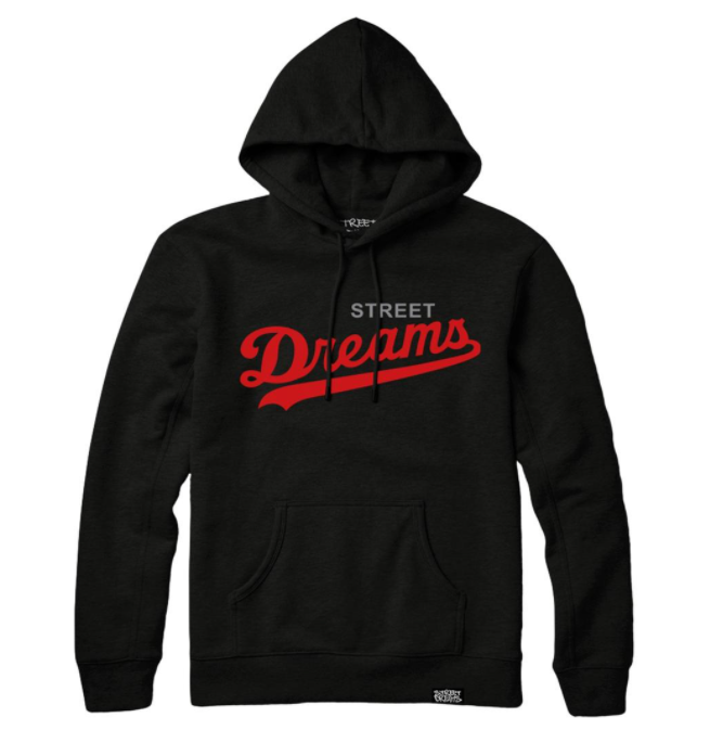 STREET DREAMS  - Major League Hoodie (ML0621BLK) - BLK/RED