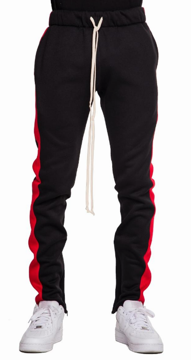 EPTM BLK/RED FLEECE TRACK PANTS (EP8718) - cosign1975