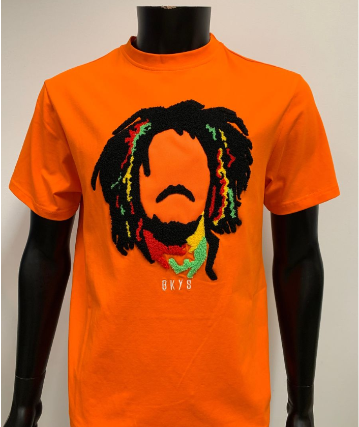 "BKYS - ""MARLEY"" TEE W/CHENILLE (BKT968) - Orange - cosign1975"