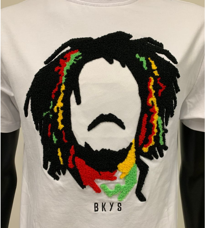 "BKYS - ""MARLEY"" TEE W/CHENILLE (BKT968) - White - cosign1975"