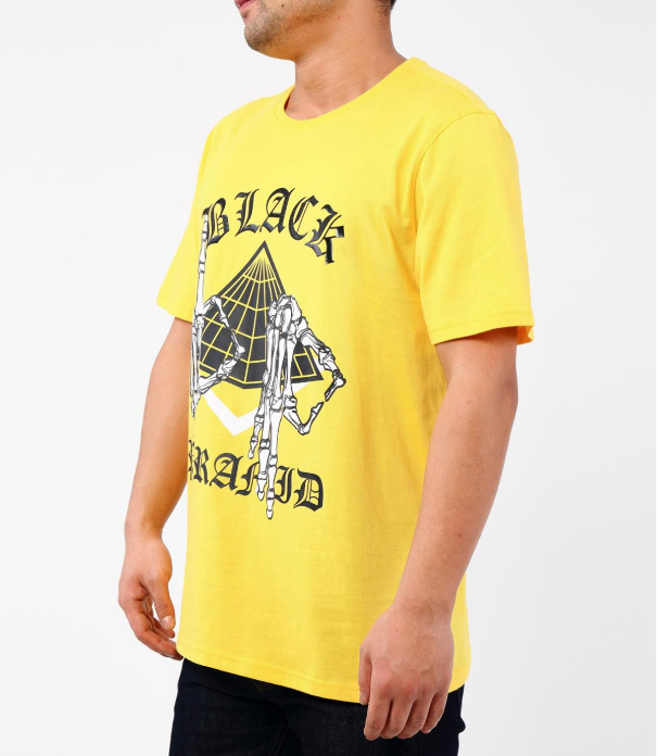 Black Pyramid - Skeleton Signs Tee (Y1161952) Yellow - cosign1975