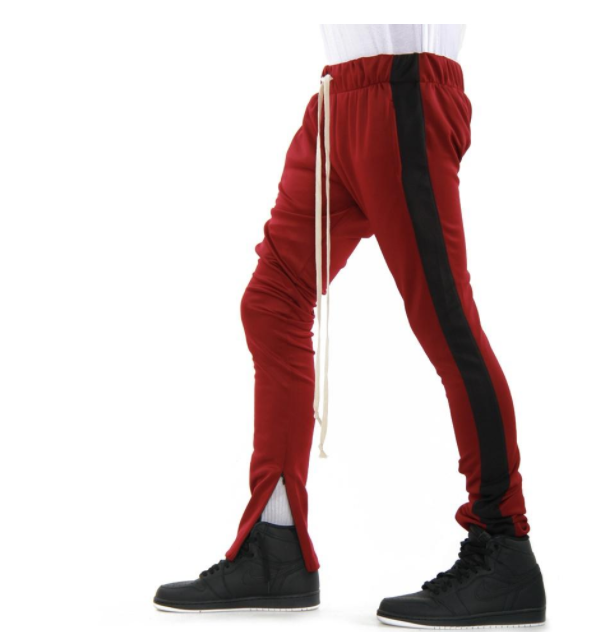 TECHNO Track Pants (EP7911) BURGUNDY BLACK - cosign1975
