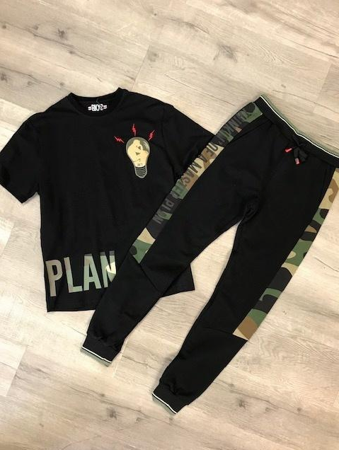 """MASTER PLAN"" TEE W/CHENILLE PATCH (BKT900) Tee Only - cosign1975"