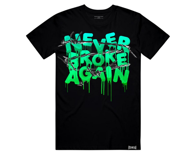 NEVER BROKE AGAIN - DRIP WIRE TSHIRT (DRIPWIRETEEBLK) - cosign1975