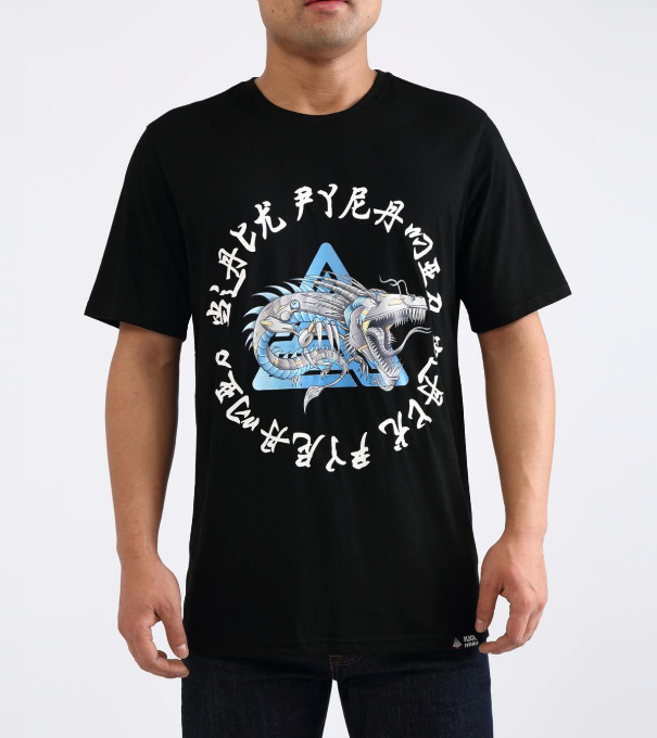 Black Pyramid Cyborg Dragon Tee (Y1161949) - Black - cosign1975