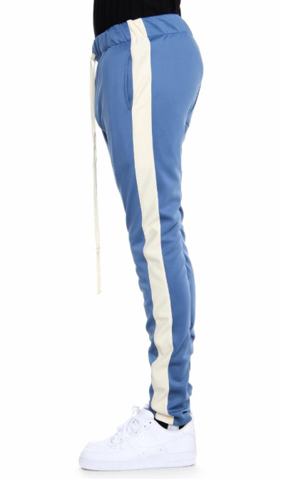 ETPM - TRACK PANTS (EP8505)- DENIM BLUE AND CREAM