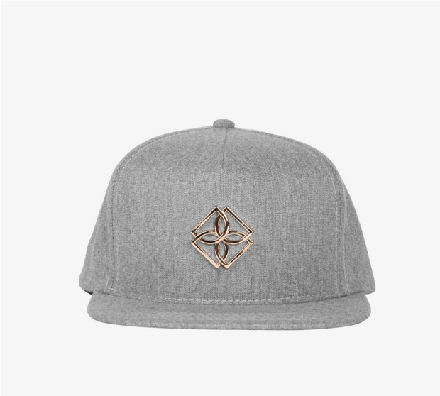 Dope GREY Gold Monogram Snapback (D2016-H103) - cosign1975