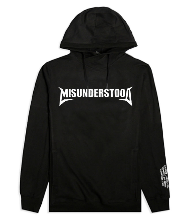 Misunderstood Core Custom Black French Terry Hoodie (EF16MUC03) - cosign1975