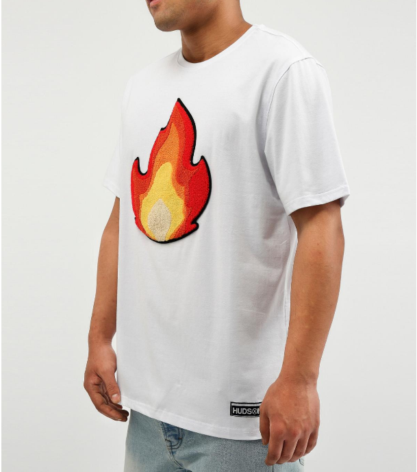 HUDSON - Fire Shirt (H1052658) white - cosign1975