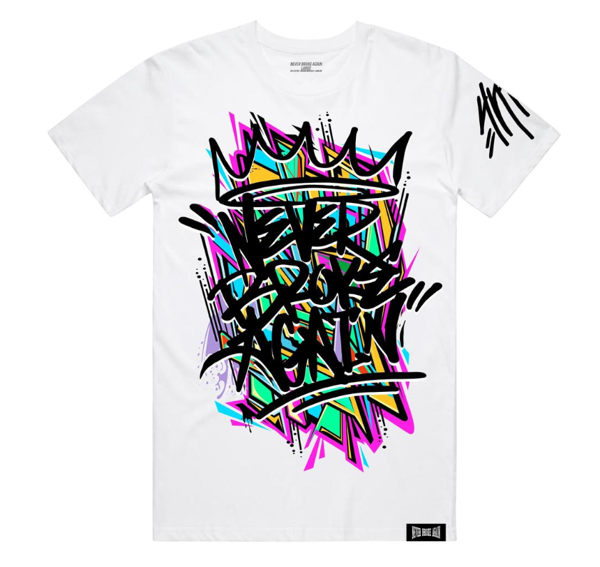 NEVER BROKE AGAIN - GRAFF TSHIRT (GRAFFTEEWHT) - cosign1975