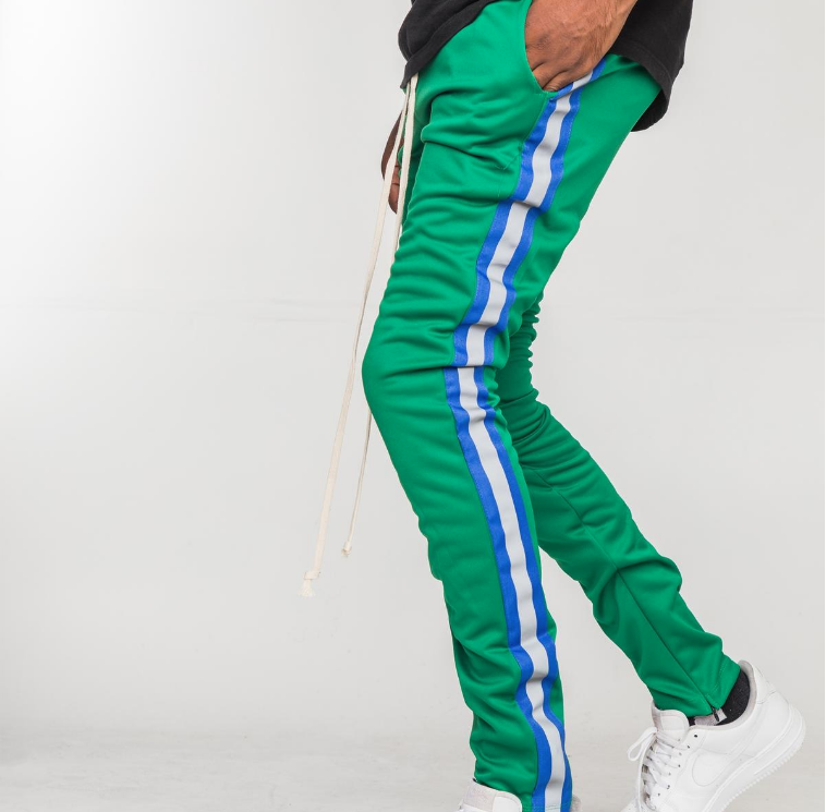 EPTM - REFLECTIVE TAPE TRACK PANTS (EP9173) -GREEN - cosign1975
