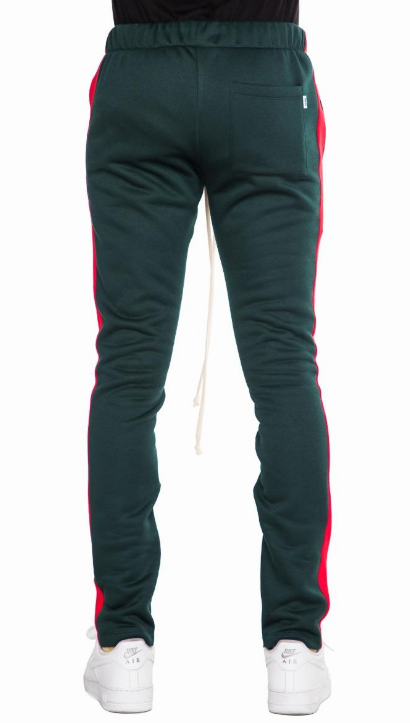 EPTM GREEN/RED FLEECE TRACK PANTS (EP8723) - cosign1975