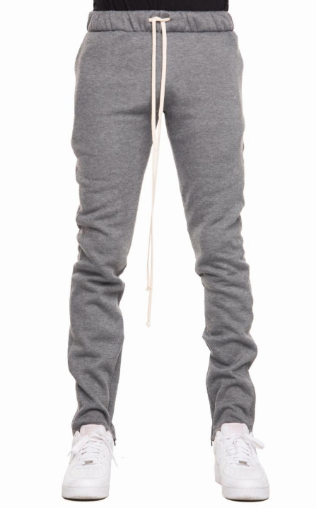 EPTM GREY FLEECE ZIPPER PANTS (EP8751) - cosign1975