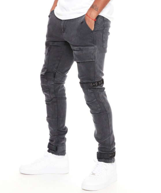 8&9 MFG. - Strapped Up Utility Pants Black Washed (PSTRGRY)
