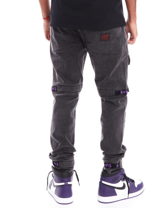 8&9 MFG. - Strapped Up Utility Pants Purple Vintage Washed (PSTRGRYPRP)